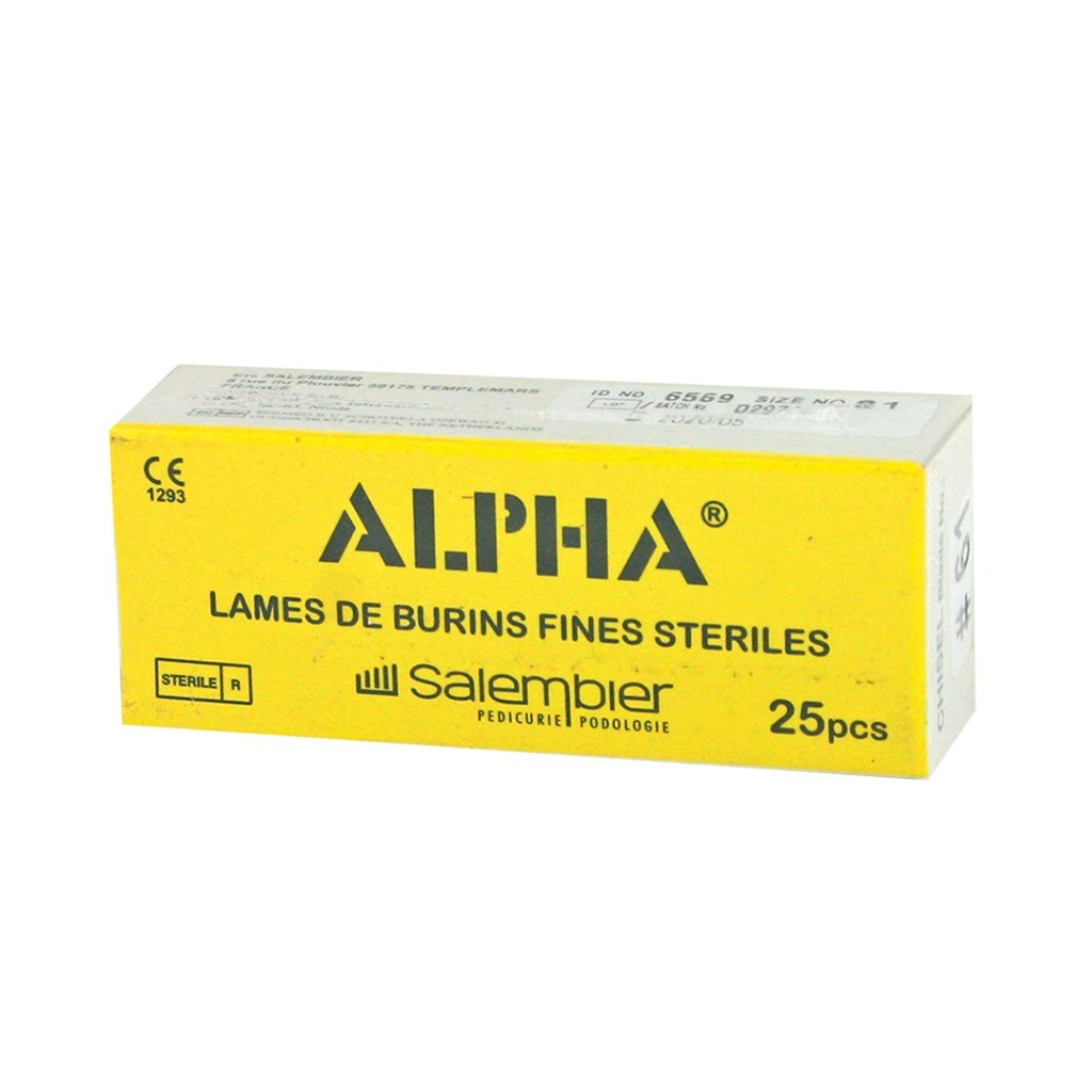 Lames de burin Alpha
