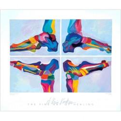 """Poster décoratif """"Squelettes de pied"""""""