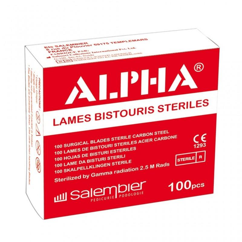 Lames de bistouri stériles Alpha